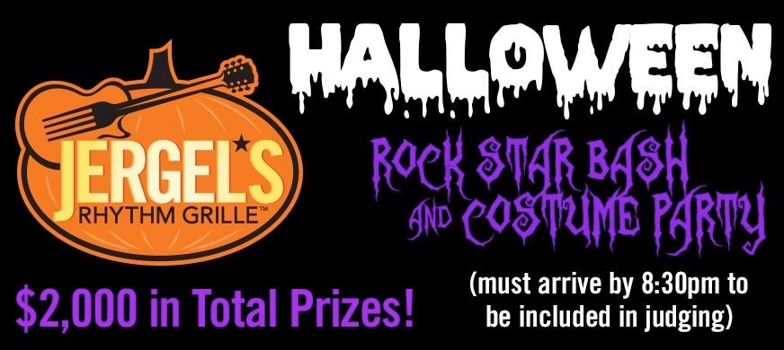 jergel's rhythm grille: halloween rock star bash & costume party